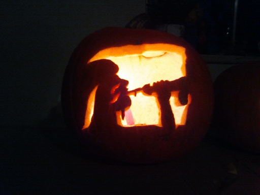 lewd pumpkin carving