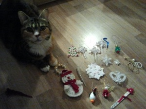 Cat Loves Ornaments, too