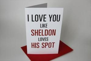 sheldon valentines card