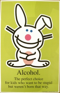 alcohol happy bunny